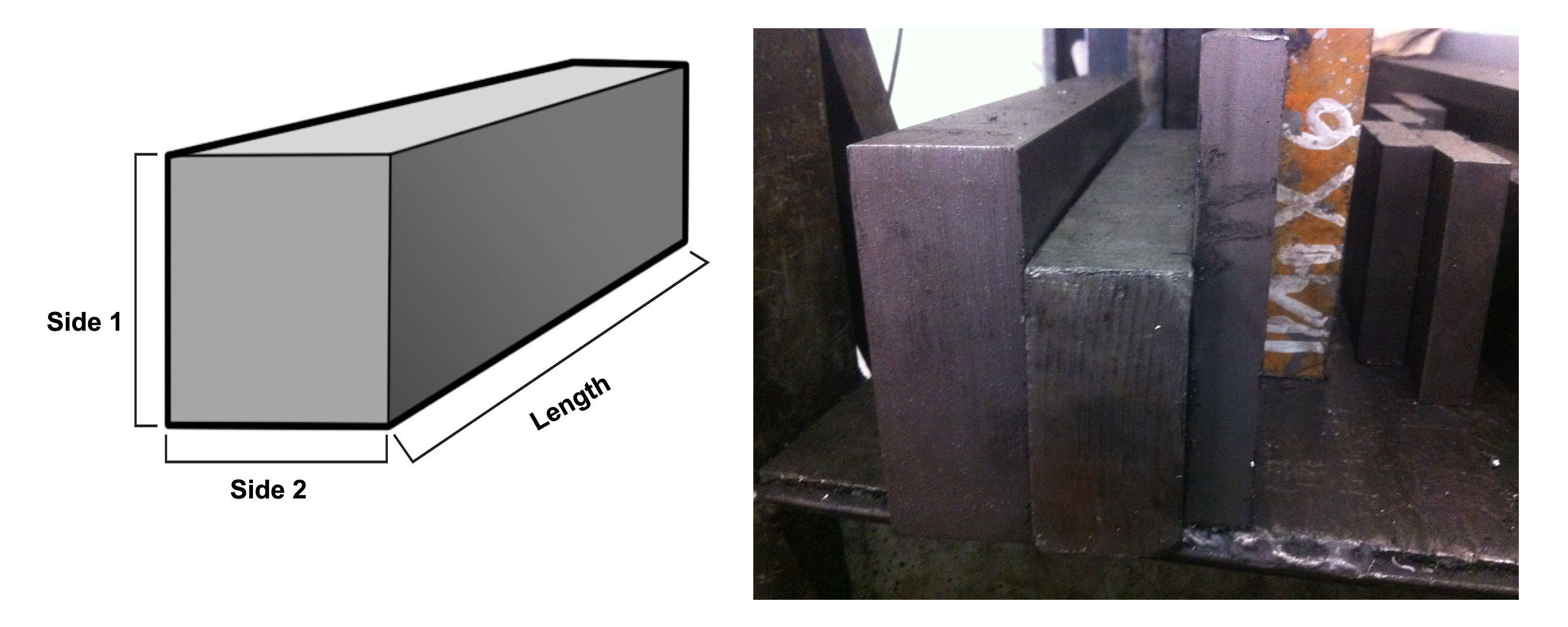 """304 Stainless Steel Rectangle Bar 1/"""" x 4/"""" x 12/"""""""
